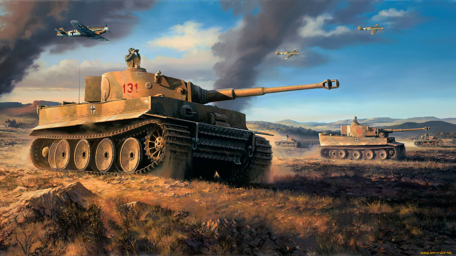Картинки на рабочий стол танковый бой